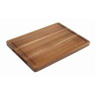 Acacia rechthoekige plank met sapgeul 34x22x2cm