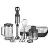 Kitchen Aid staafmixer grijs 700W 5 snelheden, incl. 3 messen // 5 toebehoren