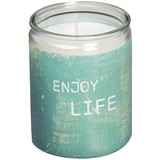 "Bolsius Star Light Moods Enjoy Life ""Word Art"" tray à 8   50 uur //"