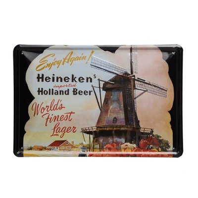 Heineken Retro metal bar sign - Wallplate Windmill 30 x 20 cm