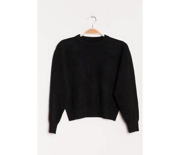 Cozy Cropped Black