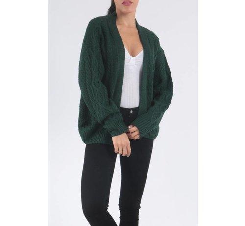 Daphnea Green Knitted