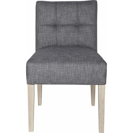 LEF collections Salle à manger chaise 'Mare' gris taupe 83X63X52cm