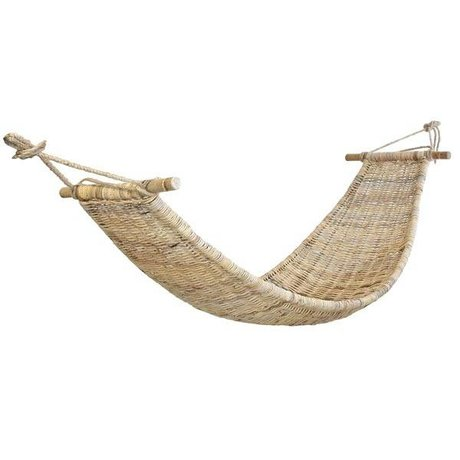 HK-living Hammock natural brown cane 220x75cm