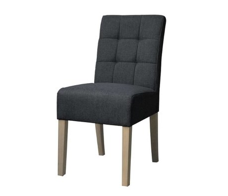 LEF collections Dining Chair Sem Anthrazit Textil 45x59x95cm