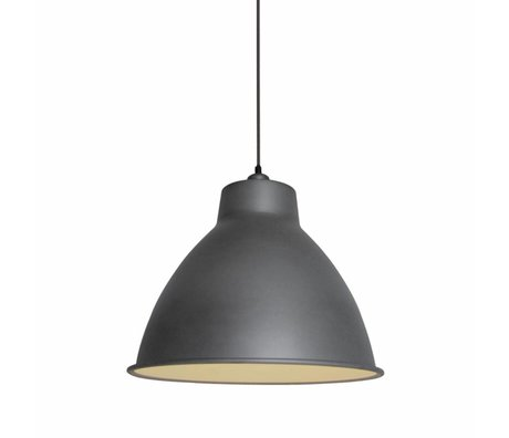 LEF collections Hanging lamp dome gray matt metal 42x42x36cm