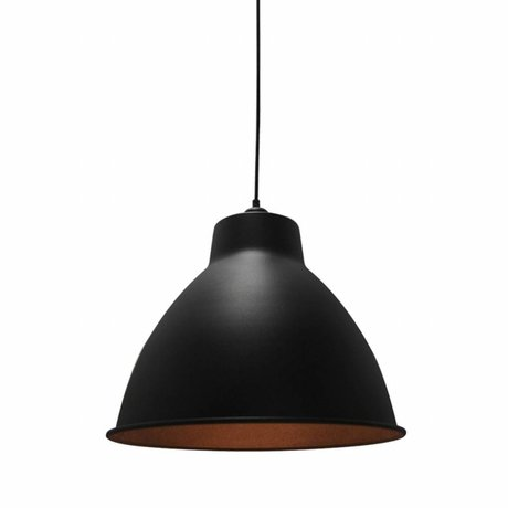 LEF collections Dome hanging lamp black metal 42x42x36cm