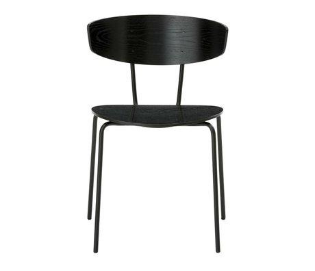 Ferm Living Dining chair Herman black metal timber 50x74x47cm