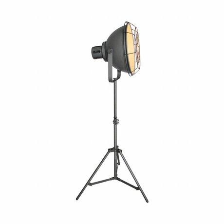 LEF collections Floor lamp max gray metal 51x40x165cm