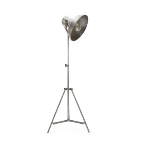 LEF collections Stehlampe Fabrik Silber Metall 55x55x145-185cm