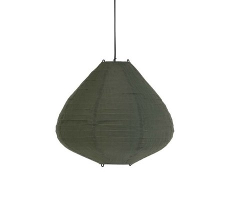 HK-living Lampion is wearing green cotton Ø50x43cm