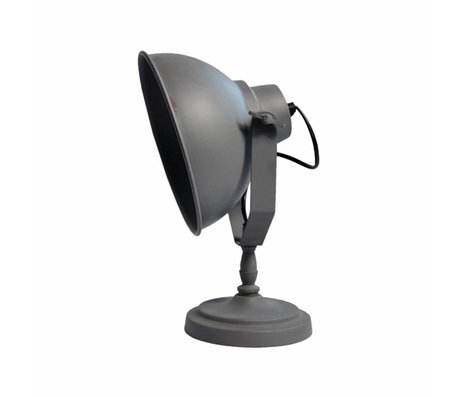 LEF collections Table Lamp urban stone gray metal 26x18x32cm