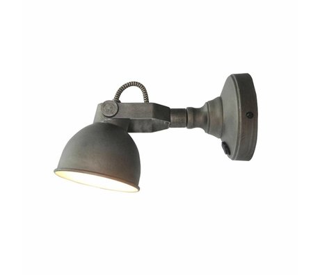 LEF collections Wall lamp bow gray metal M 14x11x14cm