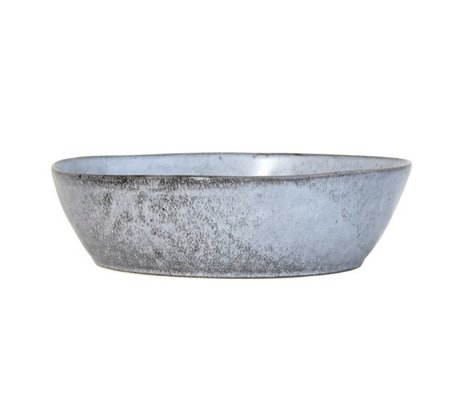 HK-living gray ceramic dish large 27x27x7,6cm