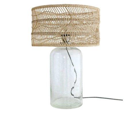 HK-living Lampe de table bouteille canne brun 40x40x59cm de verre