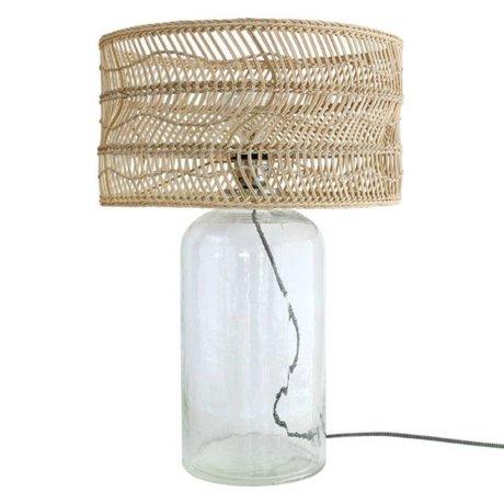 HK-living Table lamp bottle brown cane glass 40x40x59cm