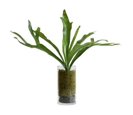 HK-living Decoration staghorn green plastic glass vase 59x55x59cm