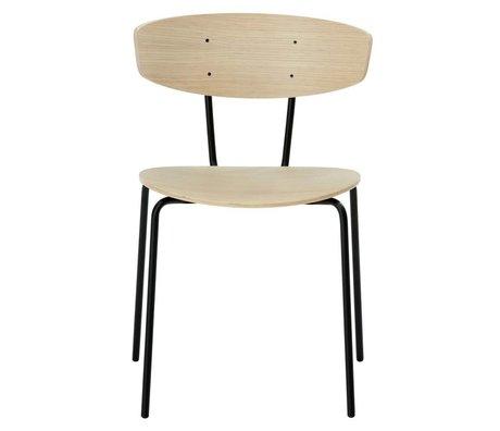 Ferm Living Salle à manger chaise Herman bois brun 50x74x47cm métallique