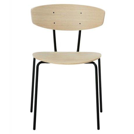 Ferm Living Dining chair Herman brown wood metal 50x74x47cm