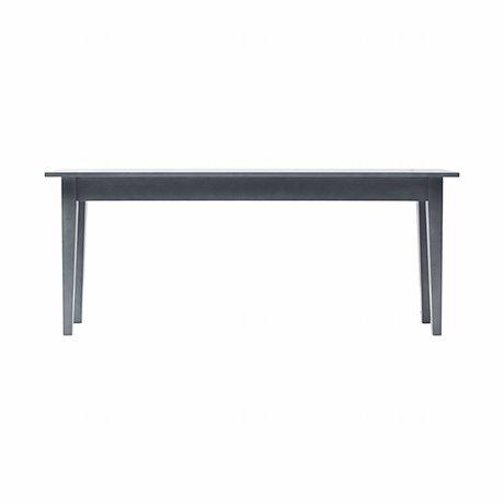 Housedoctor Table d'appoint en bois de musc gris 200x45x80 cm