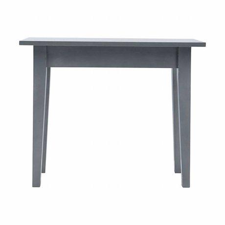 Housedoctor Table d'appoint de musc gris bois 100x45x80cm