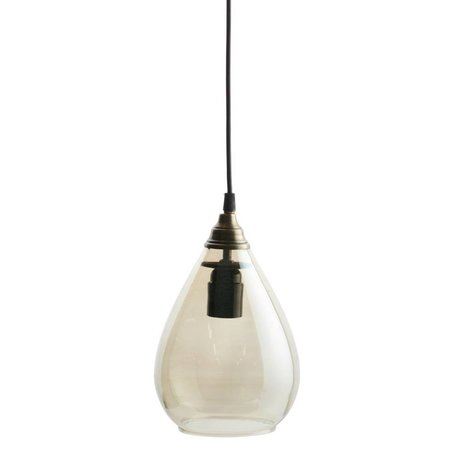 BePureHome laiton simple lampe suspendue verre or L 28xØ14cm