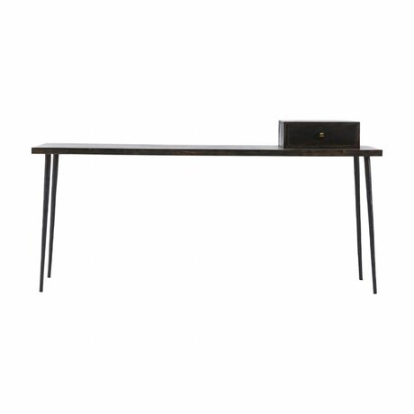Housedoctor Club Side Table black stain wood 180x45x75cm