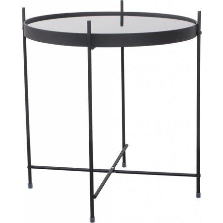 """Zuiver Table d'appoint en métal noir Ø43x45cm de verre """"Cupidon"""""""