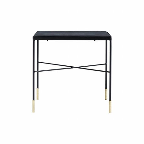 Housedoctor Table Ox gray iron 40x40x40