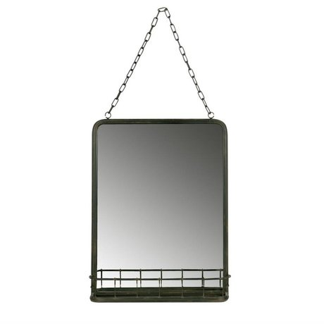 BePureHome Speak mirror black metal 46,5x35x10cm