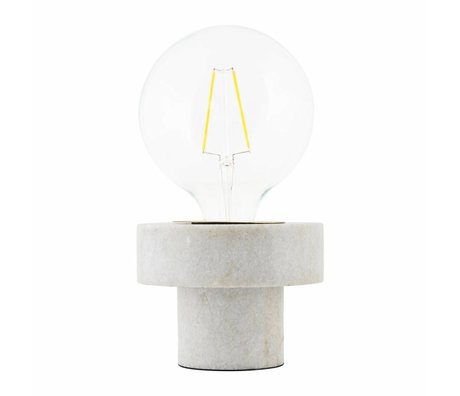 Housedoctor Lampe de table en marbre blanc Pin 13x13x10cm