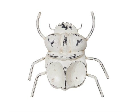 BePureHome Insect deco white wood S 21x21x3cm