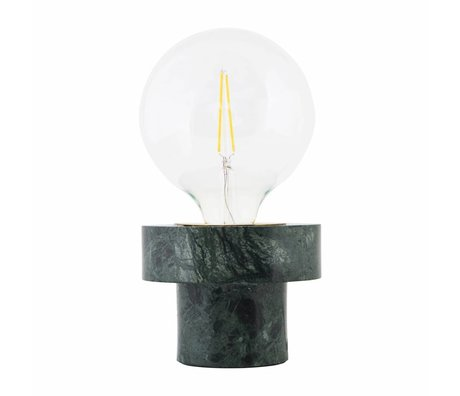 Housedoctor Table Lamp Pin green marble 13x13x10cm
