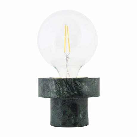 Housedoctor Lampe de table Pin vert 13x13x10cm de marbre