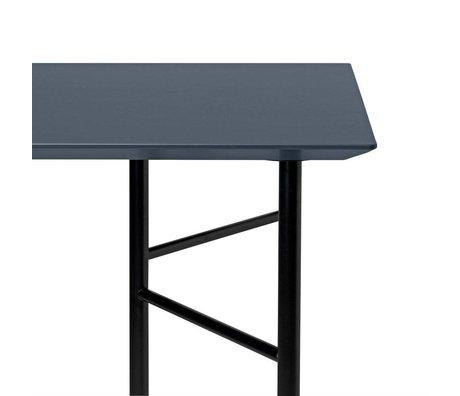 Ferm Living Tafelblad Mingle donker grijs hout linoleum 65x135x2cm