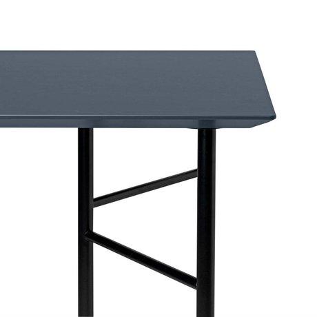 Ferm Living Tabletop Mingle bois foncé gris linoléum 65x135x2cm
