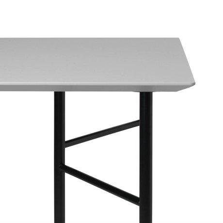 Ferm Living Tischplatte Mingle hellgrau Holz Linoleum 90x160x2cm