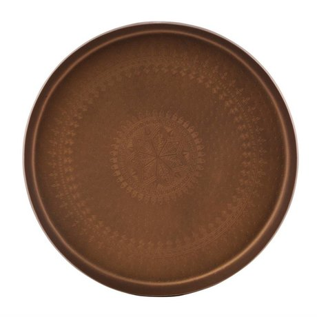 BePureHome Big Tray Waitress copper metal 6xØ44cm