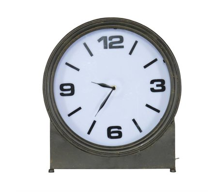BePureHome Table Clock Ageless black metal 41x37x10,5cm