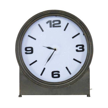 BePureHome Table Clock Ageless 41x37x10,5cm en métal noir
