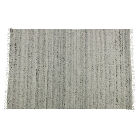 BePureHome Fields gray cotton wool rug 240x170cm