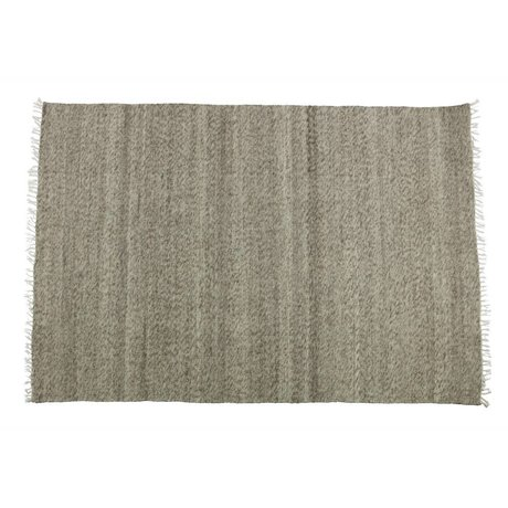 BePureHome Fields brown cotton wool rug 240x170cm
