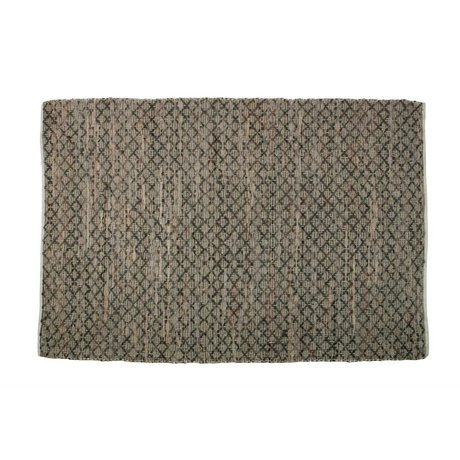 BePureHome Rug Twined brown burlap leather 240x170cm