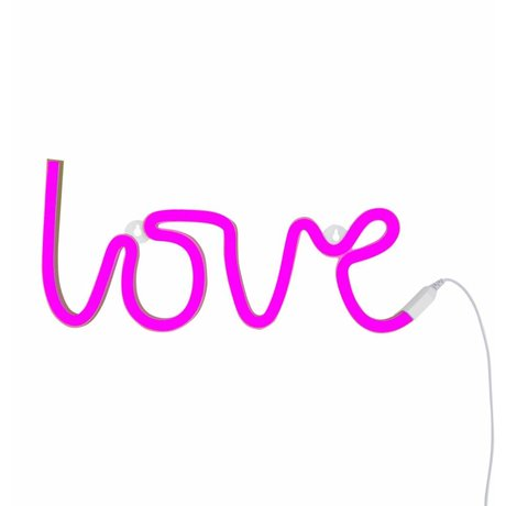 A Little Lovely Company Lamp love neon pink 38x16cm