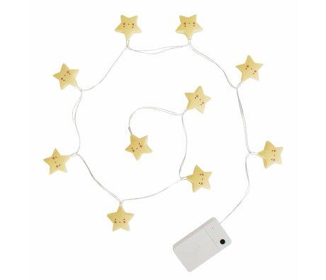 A Little Lovely Company Lichtketting sterren geel 1,1m