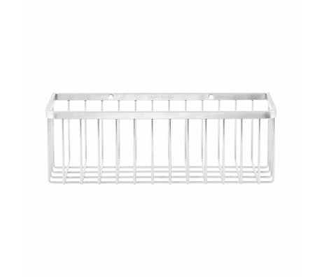 Housedoctor Panier Bath simple gris 28x11,5x9,5cm métallique