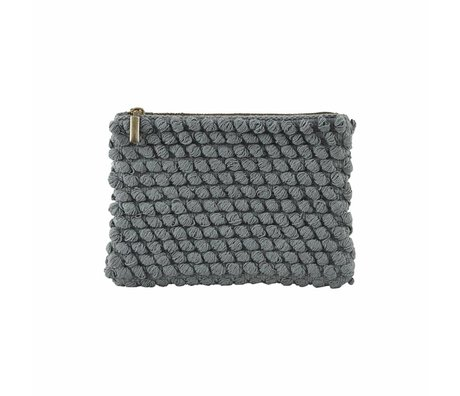 Housedoctor Embrayage Tofted coton gris 22x15cm