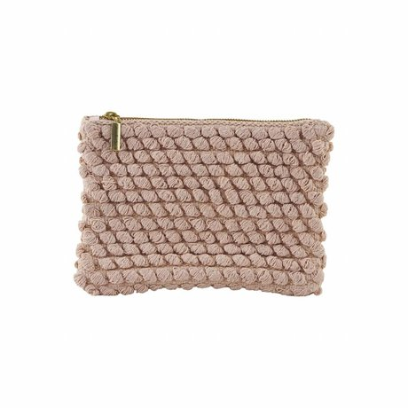 Housedoctor Embrayage Tofted coton 22x15cm rose
