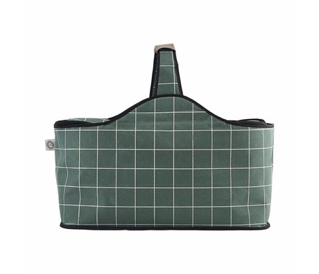 Housedoctor Cooler bag green polyester aluminum 47x24x22,5cm