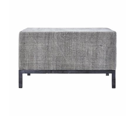 Housedoctor Pouf gray wool Iron 80x80x45cm